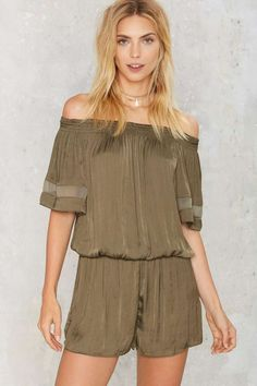 Following the River Off-the-Shoulder Romper | Shop Clothes at Nasty Gal!