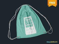 Free Drawstring Backpack Mockup PSD