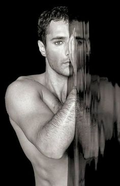 Handsome man, water and black and white- some of my favorite things