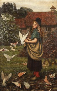 Arthur Hughes The pet of the farm. British, 1832-1915