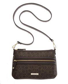 c4c9acf8e38ee Calvin Klein Coated Canvas Monogram Crossbody Handbags   Accessories -  Macy s