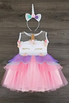 PREORDER- Lavender Deluxe Unicorn Tutu Dress