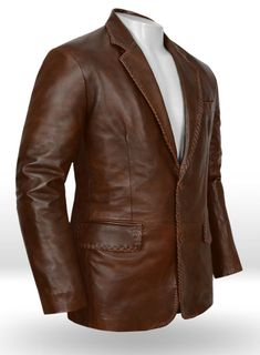The Jacket are made of real Genuine Lambskin Leather. Available in all sizes and colors. Leather is our passion We source the best leather skins that are soft Napa Leather. Mens Leather Blazer, Lambskin Leather Jacket, Leather Jackets, Brown Suits, Brown Blazer, Blazer Fashion, Blazer Jacket, Jacket Men, Vintage Men