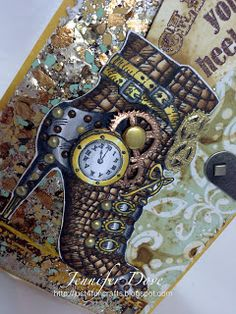 #Stampendous #Steampunk #EncrustedJewel Just4FunCrafts and DoveArt Studios