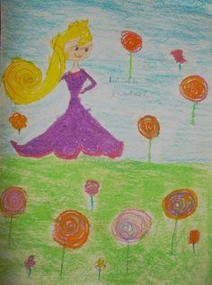 #Candyand princess #oilpastel  https://www.facebook.com/DoodlersAndScribblers
