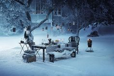 european christmas campaign by ikea. another beautiful work by the photographer mikkel vang. Ikea Christmas, Christmas In Europe, Magical Christmas, Blue Christmas, Christmas Photos, Merry Christmas, Christmas Ideas, Christmas Candles, Christmas Time