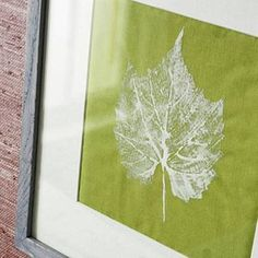 Easy leaf print on paper or fabric