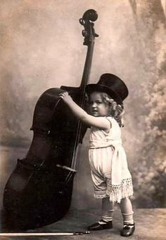 Little Girl - Big Bass ~ Vintage Photo Postcard