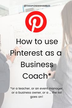 Are you a Business Coach? Are you utilising the powers of Pinterest?If you said 'yes, that's me!' and then 'oh, um, no?' then I have some excellent news for you.I can help with that! Keep reading!