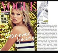 Jeunesse® is in Vogue - literally! Check out the current edition of Vogue Magazine (July where you will find mention of our flagship product - LUMINESCE™ cellular rejuvenation serum. With an Aussie readership of Jeunesse is certainly getting noticed! Latina, Under Eye Bags, Growth Factor, Vogue Magazine, Stem Cells, Pure Beauty, Beauty Tips, Forever Young, Anti Aging Skin Care