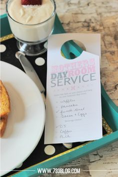 seven thirty three - - - a creative blog: Mother's Day Room Service Gift Idea