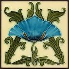 回  Tile o Phile  回   Art Nouveau tile