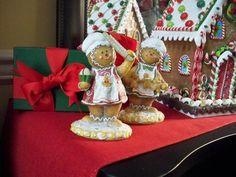Set of 2 Sugared Gingerbread Children have been busy baking in the gingerbread kitchen! by Valerie Parr Hill