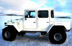 1984 Toyota Land Cruiser Four Door Build by FouadHafeez Toyota Autos, Toyota 4x4, Toyota Trucks, Toyota Fj Cruiser, Jeep Willys, Land Cruiser Pick Up, Carros Toyota, Tacoma Truck, White Truck