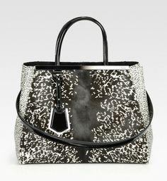calf hair purse | Fendi Printed Hair Calf Bag in Animal (white) - Lyst