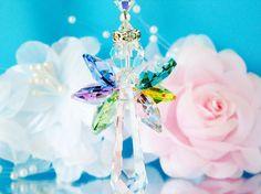 Crystal Suncatcher Rainbow Guardian Angel by CrystalBlueDesigns