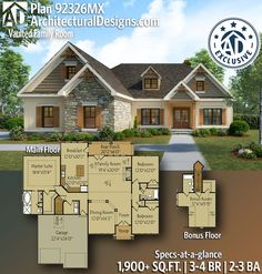 417 Best Rugged and Rustic Home Plans images in 2020 | House ... Best Plans For Lake House With Walkout Bat on