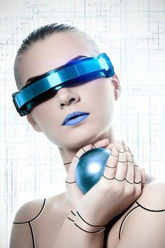 Cyberpunk woman or robot?