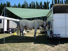 creating shade at your horse trailer - Google Search