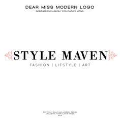 Dear Miss Modern Instant Logos exclusively for Clickin' Moms.      #LogoDesign #Dearmissmodern #Clickinmoms  $50.00