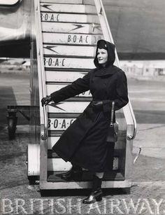 BOAC stewardess early 1950s