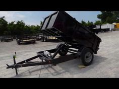 Hydraulic Dump Trailer 5'x8' 2 Ft. Sides - No Brakes - http://sleequipment.com/news/hydraulic-dump-trailer-5x8-2-ft-sides-no-brakes/