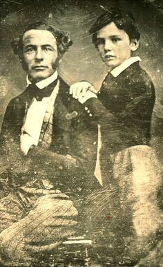 Photo of Robert E Lee and his son William Henry Fitzhugh Lee 16 years before the American civil war started. American Civil War, American History, Old Photos, Old Pictures, Vintage Pictures, Robert E Lee, Confederate States Of America, Confederate Leaders, Civil War Photos