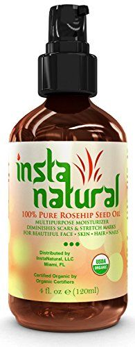ORGANIC Rosehip Oil -Great Moisturizer for Skin, Hair, Stretch Marks, Scars, Discoloration, Wrinkles & Fine Lines