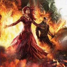 "Melisandre & Stannis Baratheon. ""The Red Lady"" A Song of Ice and Fire Calendar 2016"