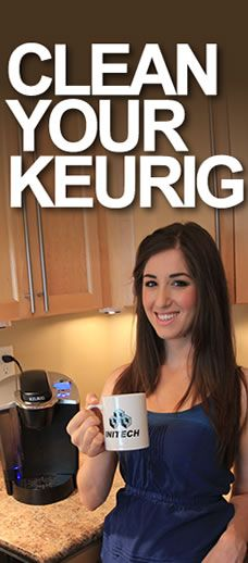 "How to clean and descale your Keurig! Quick AND easy! Need to remember this----Because of the word ""descale"" all i can think about is lizards and snakes etc etc. Im rethinking how much i really want a keurig if i have to ""descale"" it. Diy Cleaning Products, Cleaning Solutions, Cleaning Hacks, Keurig Cleaning, Kitchen Cleaning, Cleaning Recipes, Kitchen Hacks, Cleaning Supplies, Casa Clean"