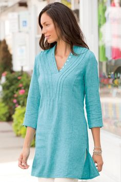 Air Of Spring Linen Cotton Tunic | Territory Ahead