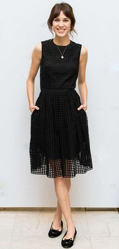 The modern fresh design make it a classic with a twist little black dress...