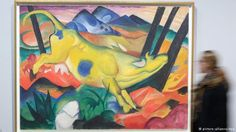 """Exhibition August Macke (1887-1914) und Franz Marc (1880-1916). An artistic friendship. The Lenbachhaus is famous for holding the world's largest collection of art by the """"Blue Rider"""" group, with works by Franz Marc, Wassily Kandinsky, August Macke, Paul Klee and Gabriele Münter."""