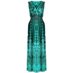 G2 Chic Women's Bohemian Summer Smocked Jersey Maxi Dress ($12) ❤ liked on Polyvore featuring dresses, maxi dresses, blue jersey dress, boho chic dresses, smocked dresses and summer dresses