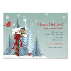 Holiday Moving Announcement Card