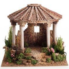 Imagen relacionada Diy Christmas Village, Christmas Villages, Christmas Home, Christmas Crafts, Christmas Nativity, Clay Houses, Ceramic Houses, Miniature Houses, Fairy Fountain