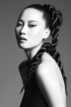 Kerastase Visions of Style Campaign - Rope Braid pony for hair