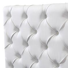 Luxo Verona Queen Upholstered Headboard - White