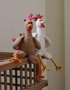 Ravelry: Chicken Chicken Chicken pattern by Emily Ivey Selberg Selberg Selberg Selberg Rohn-Penn. Aren't chickens holidays? Crochet Amigurumi, Crochet Toys, Knit Crochet, Knitting Projects, Crochet Projects, Knitting Patterns, Chicken Pattern, Crochet Chicken, Chicken Crafts