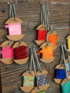 Ribbon Storage DIY #Tutorial