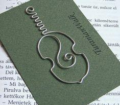 Cello - wire bookmark