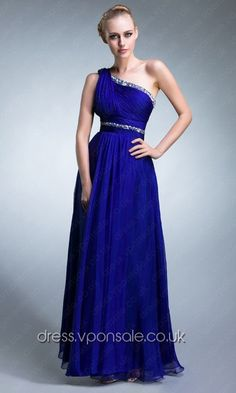 Bridesmaid Dresses 2014 One Shoulder Long Elegant Prom Dress DVP0027
