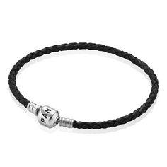PANDORA   Одинарный кожаный браслет