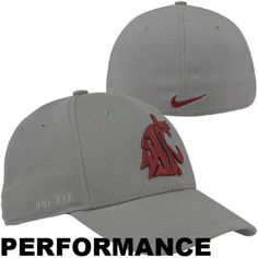 the latest 9d9fe 90faa Nike Washington State Cougars Performance Swoosh Flex Hat - Gray