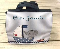 """Rucksäcke - Kinderrucksack/Kindergartentasche """"Elefantboot"""" - ein Designerstück von magicneedles bei DaWanda"""