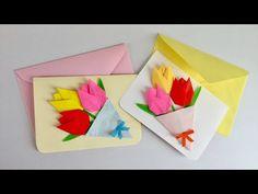 折り紙 桜の花 ポップアップカードの簡単な作り方(niceno1)Origami sakura flower Pop up card tutorial - YouTube