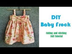 DIY Designer Baby Frock Cutting And Stitching Tutorial Baby Girl Frocks, Kids Frocks, Frocks For Girls, Little Girl Dresses, Baby Frock Pattern, Frock Patterns, Baby Girl Dress Patterns, Baby Girl Frock Design, Baby Design