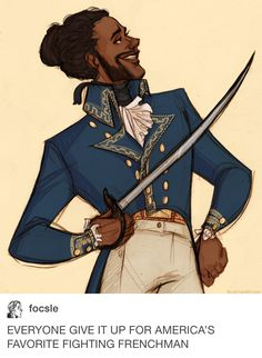 I am really enjoying all of the talented Hamilton fan art. it is amazing<<< and then there's me: LAFAYETTE Hamilton Fanart, Alexander Hamilton, Theatre Nerds, Musical Theatre, Theater, Lafayette Hamilton, Overwatch, Comic Collage, Daveed Diggs