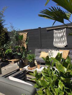 Een heerlijke chill plek met veel planten om je heen Om, Interior Design, Nest Design, Home Interior Design, Interior Designing, Home Decor, Interiors, Design Interiors