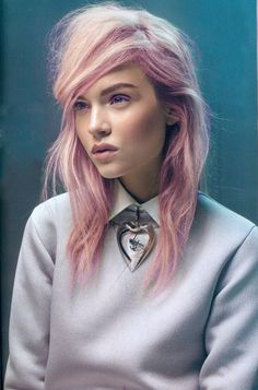 COLORFUL HAIR | Pink pastel colored hair | Cabelo fantasia rosa pastel *.*